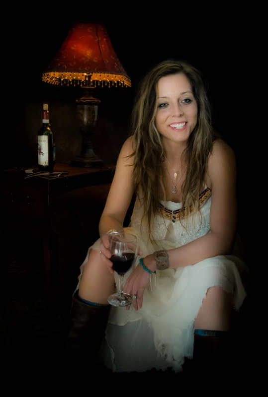 Mandy with Wine