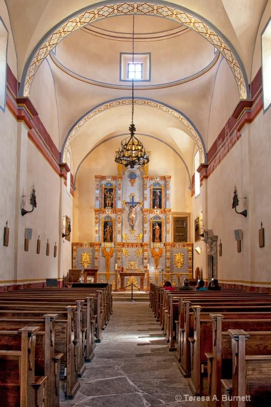 Mision San Jose Chapel Interior - ID: 14494014 © Teresa Burnett