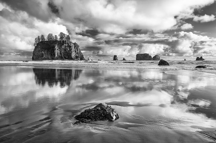 Second Beach in Black and White