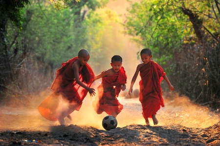 Happy Moment of Novices from Myanmar