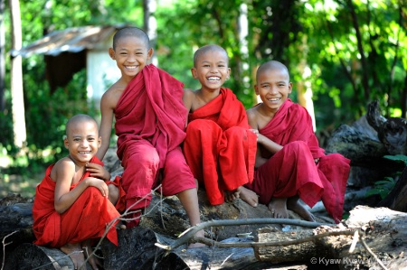 The Smiling Novices from Myanmar
