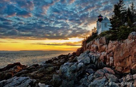 Bass Harbor Light Sunset