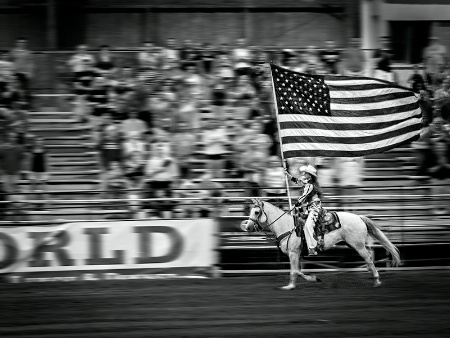 Old Glory On Parade