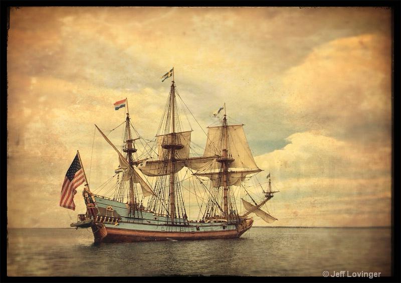 Tall Ship in Cape Cod Bay #363 - ID: 14683414 © Jeff Lovinger