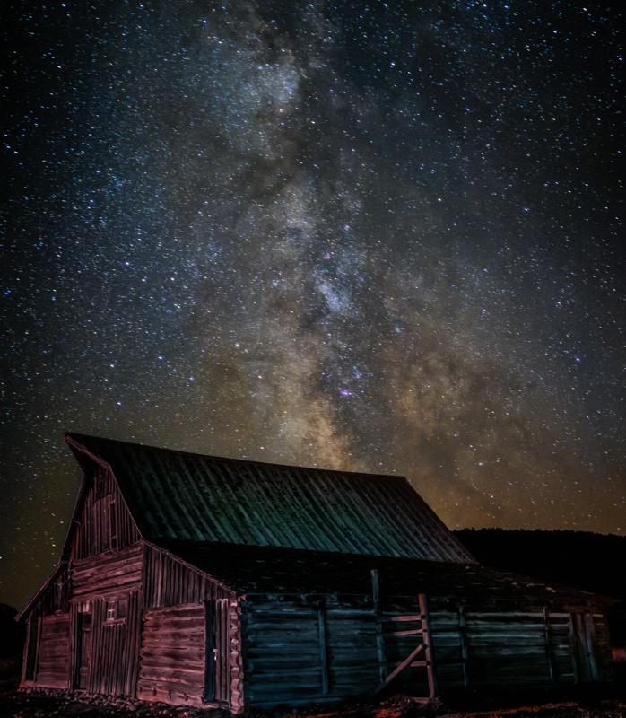 Star Dust over Moulton Barn - ID: 14752641 © Bill Currier