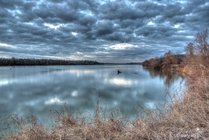 Cloudy Morning on the Arkansas River
