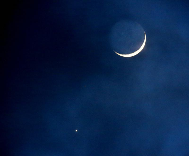 The Moon, Venus and Mars