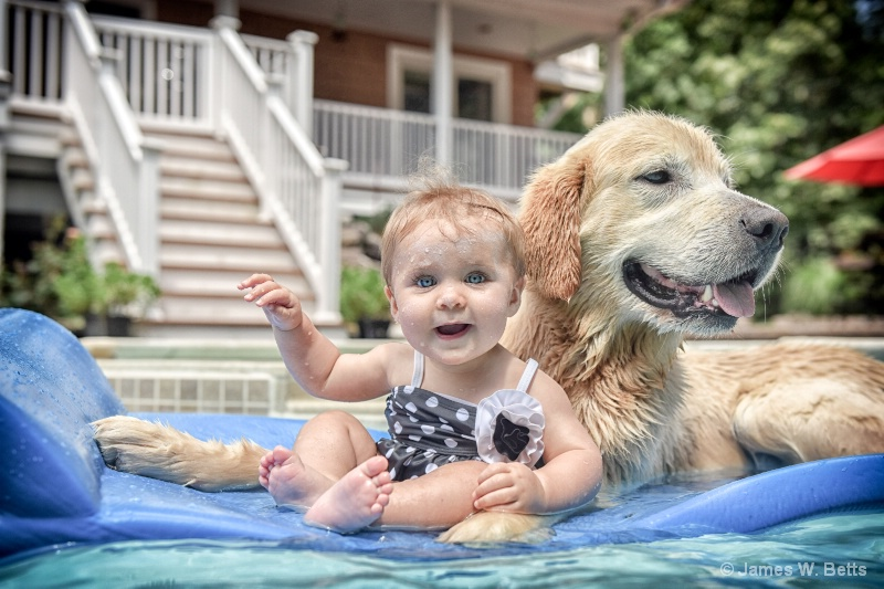 Pool ride with Marley