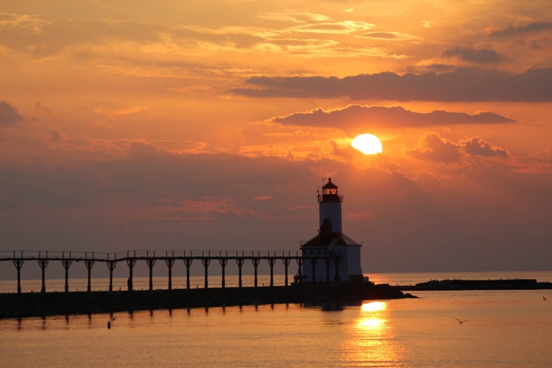 Michigan City Lighthouse - ID: 14978103 © John A. Roquet