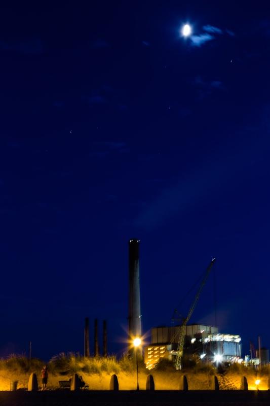 Michigan City NIPSCO Power Plant (Blue Light) - ID: 14978105 © John A. Roquet