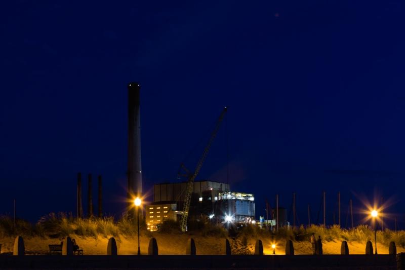 Michigan City NIPSCO Power Plant (Blue Light) - ID: 14978106 © John A. Roquet