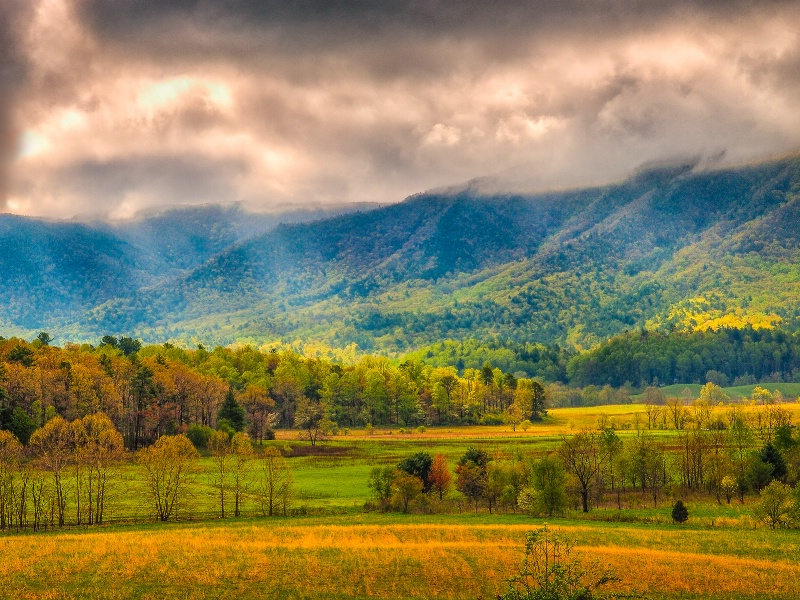Sunlight and Clouds in Cades Cove - ID: 15013797 © Philip B. Ludwig