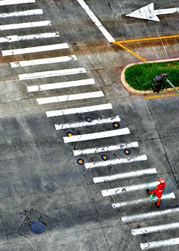 A long crosswalk