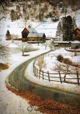Winter time Sleepy Hollow Farm, VT
