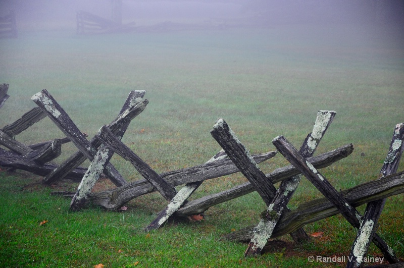 Buck  fence at Pioneer Cabin Va.