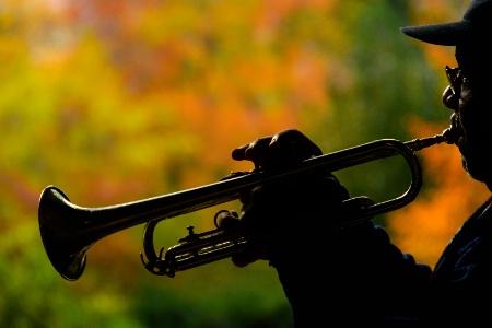 Street musician at Central Park