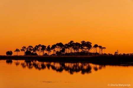 Sunset Afterglow - St Marks NWR Florida