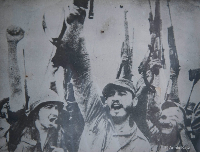 revolution poster of a young fidel - ID: 15076704 © Annie Katz