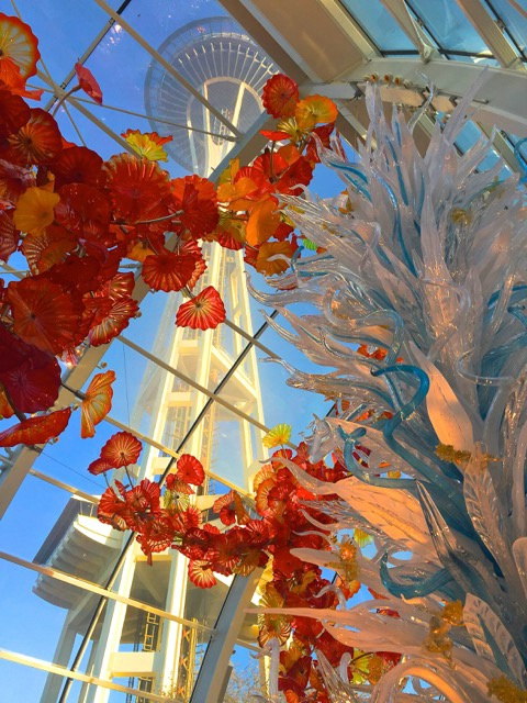 Seattle Space Needle through Chihuly Glass Exhibit - ID: 15084007 © Alice Kozar