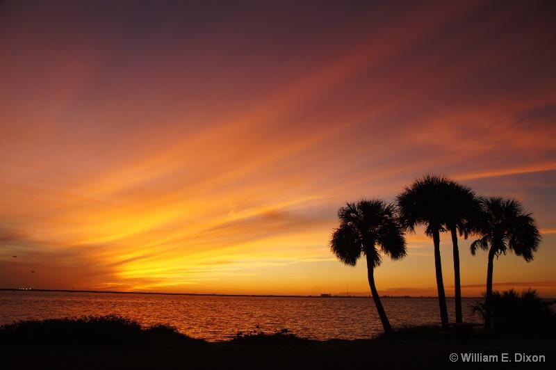 Sunset at Picnic Island Park - ID: 15089148 © William E. Dixon