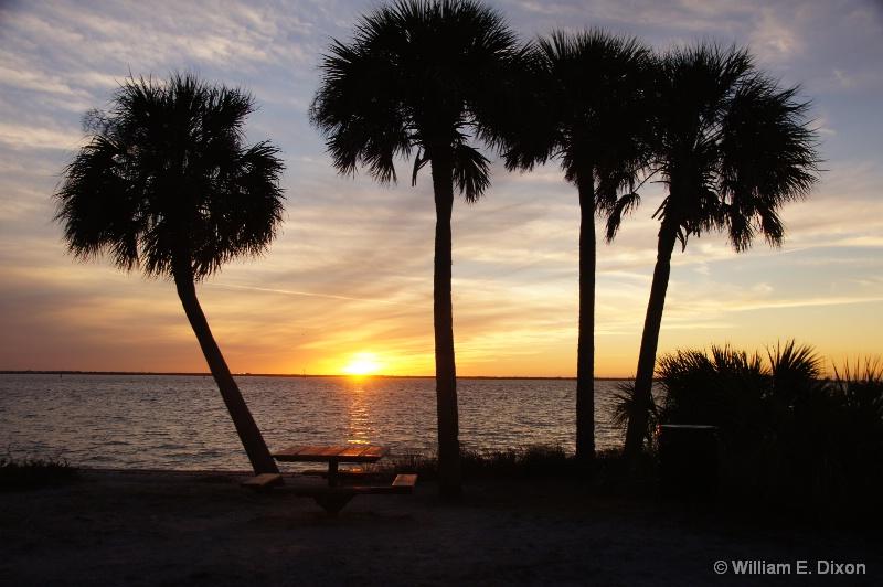 Picnic Island Park Sunset - ID: 15090013 © William E. Dixon