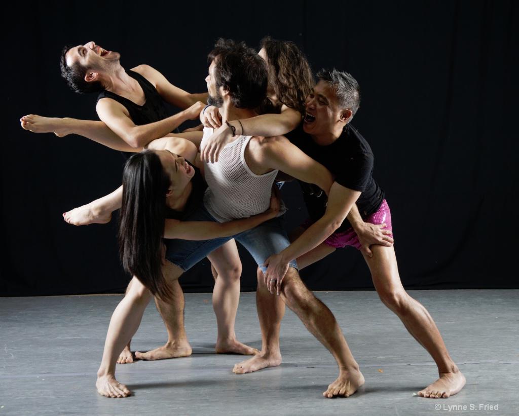 Dancers having fun