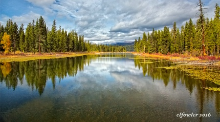 River Into Seeley Lake