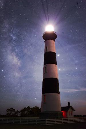 Bodie Island Light at Night; Nags Head, NC