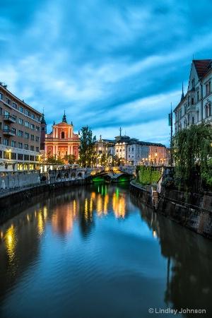 Ljubljana at Twilight