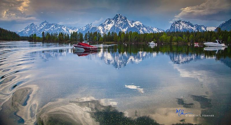 Jackson Lake Marina Evening - Grand Tetons - ID: 15178059 © Martin L. Heavner
