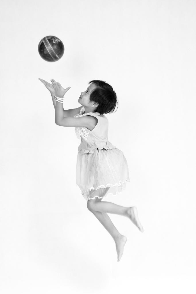 my child playing