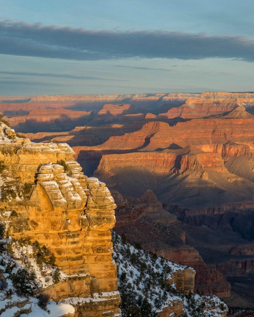 Snowy Grand Canyon Sunrise - ID: 15182764 © Carol Gregoire