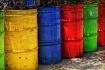 Colorful trash ca...