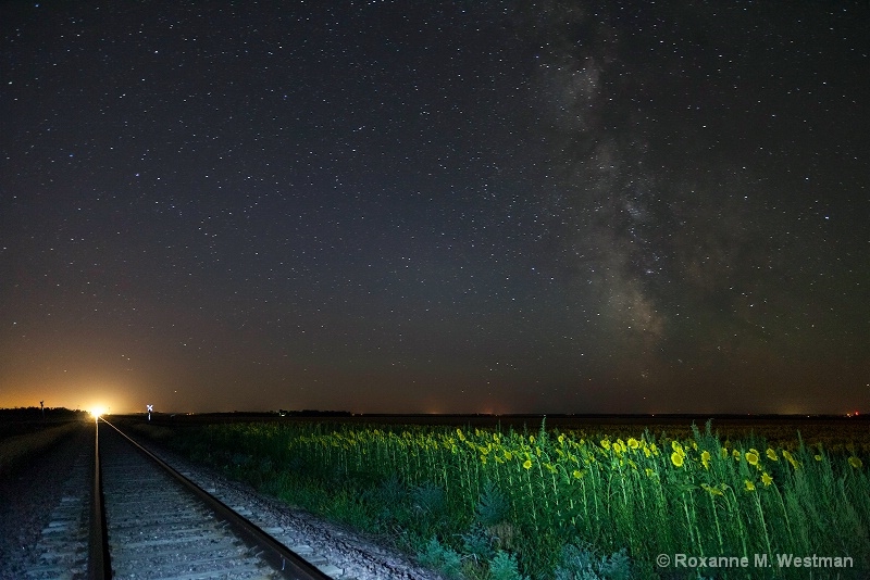 Incoming train and milky way - ID: 15203413 © Roxanne M. Westman