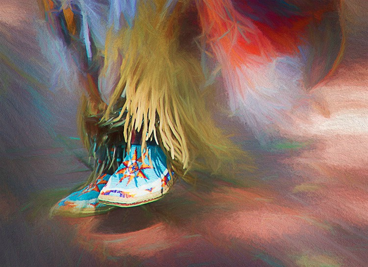 Indian Dancing in Santa Fe old district - ID: 15251139 © Bruce E. Van-Buskirk