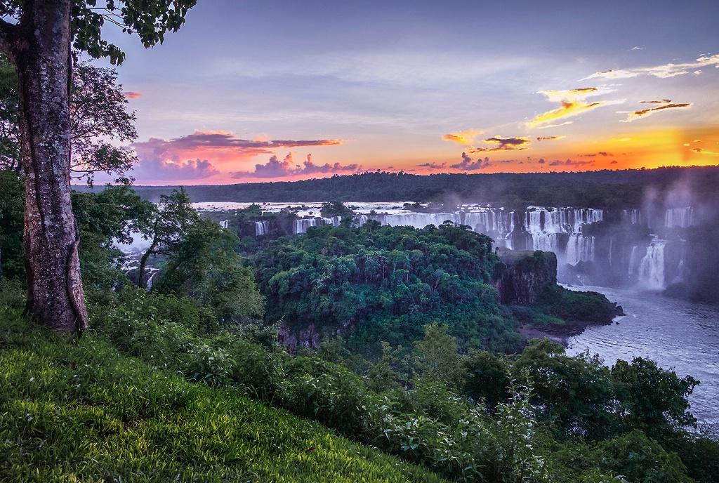 Sunset at Iguazu Falls - Brazil - ID: 15327700 © Martin L. Heavner