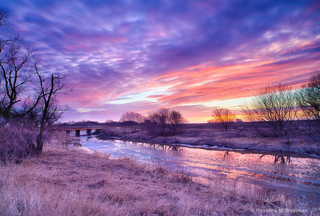 Sunset colors over the Maple River - ID: 15345212 © Roxanne M. Westman