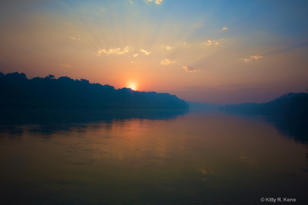 Sunrise on the Cuiaba River  - ID: 15489505 © Kitty R. Kono