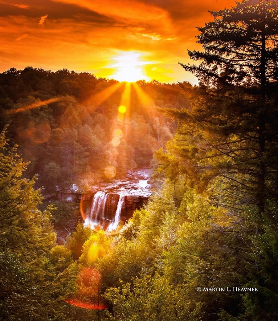 Falls & Flare - Blackwater Falls, WV - ID: 15513625 © Martin L. Heavner