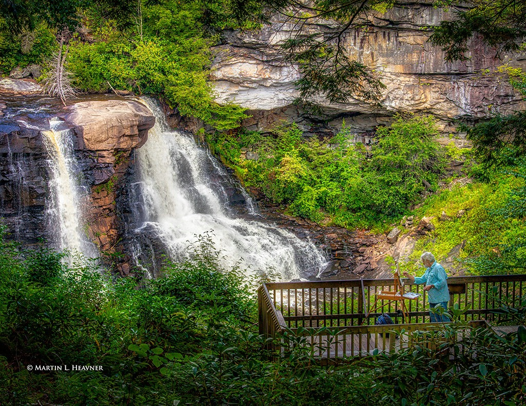 Plein Air Painter - Blackwater Falls, WV - ID: 15513628 © Martin L. Heavner