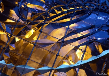 Abstract of glasswork, NYC