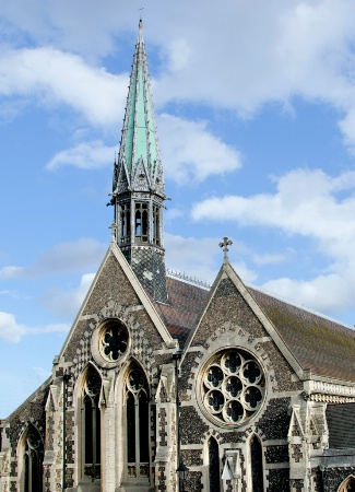 Added on spire to Harrow School chapel