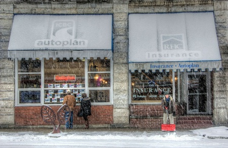 Snowy day on Baker st