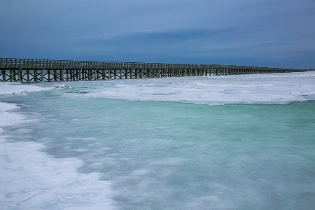Powder Pont Bridge in Winter