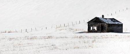 Lone Shack in Winter