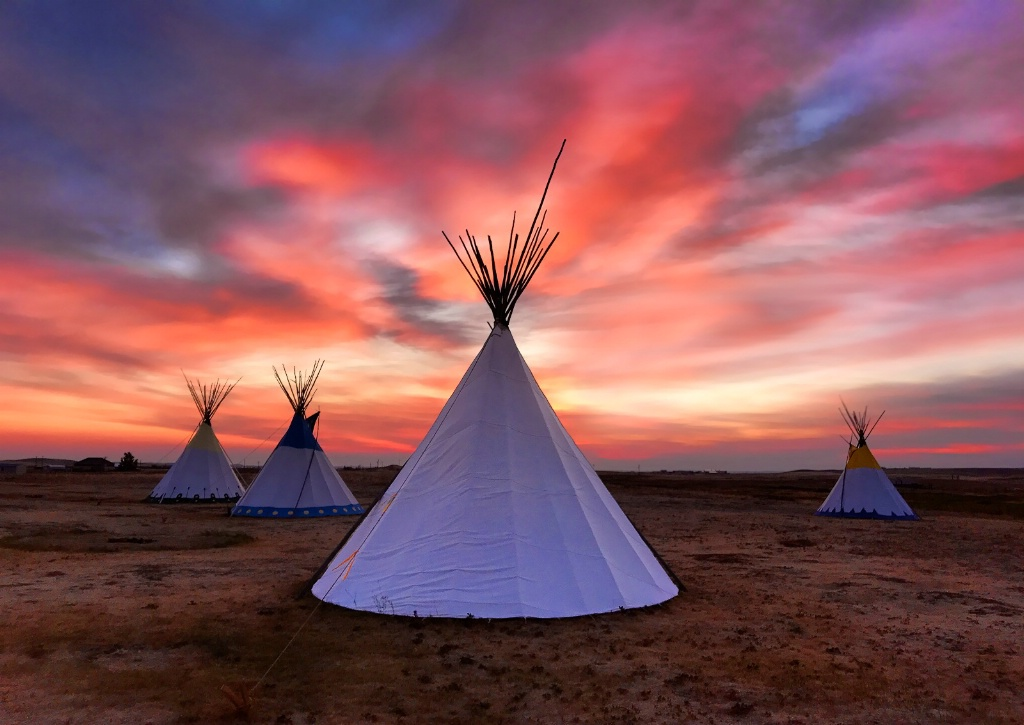 May 2018 Photo Contest Grand Prize Winner - Dawn Over Teepee Village
