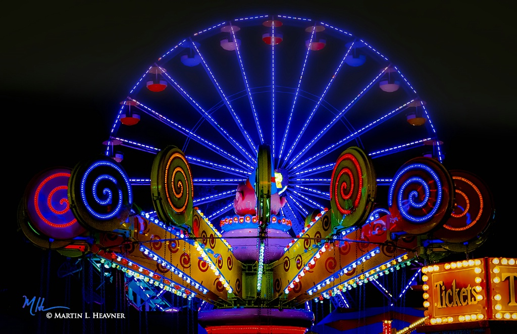 Colorful Evening at the Fairgrounds - ID: 15613696 © Martin L. Heavner
