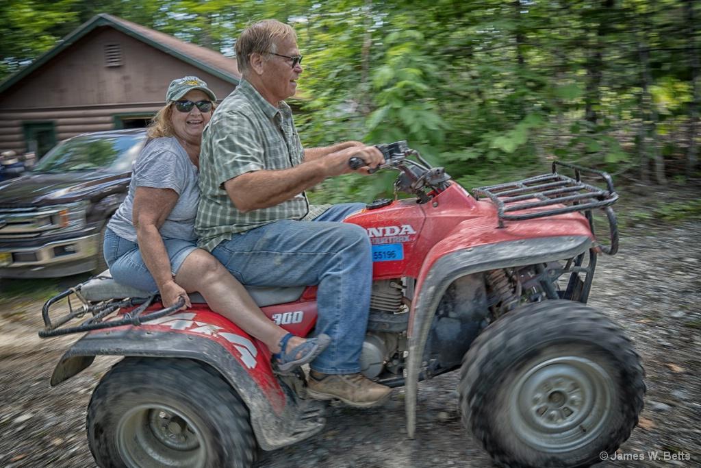 4 wheeler ride in Maine