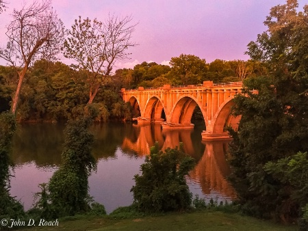 Bridge over the Rapphanock River at Sunset