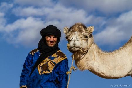 Posing on the Sahara